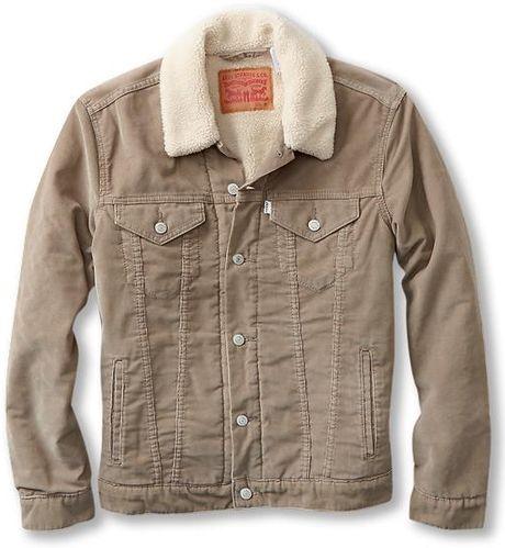 Levi's Trucker Sherpa Jacket in Beige for Men (Timberwolf Corduroy