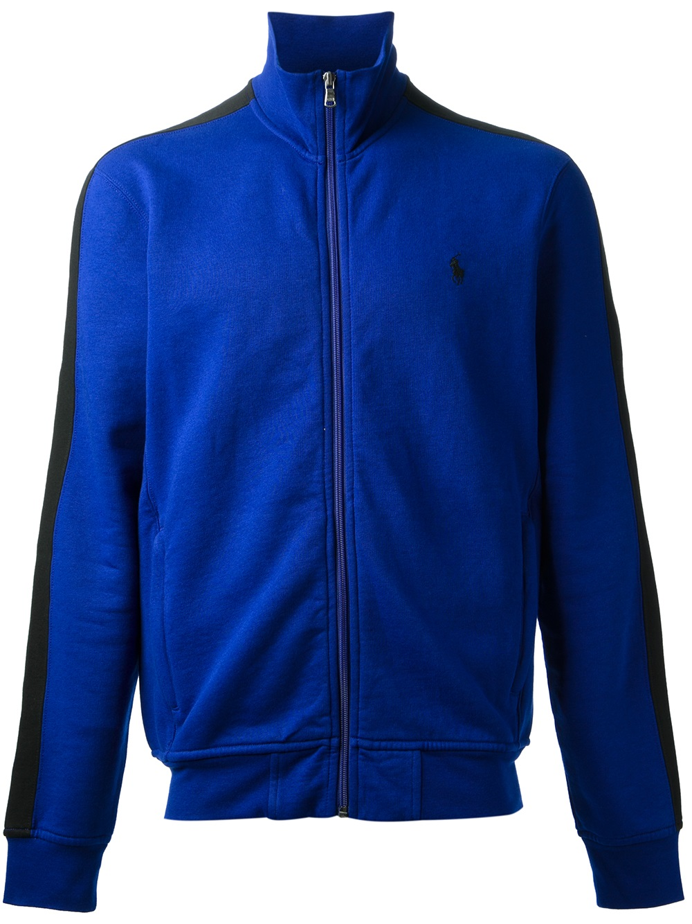 polo ralph lauren zipped sweatshirt in blue for men lyst. Black Bedroom Furniture Sets. Home Design Ideas