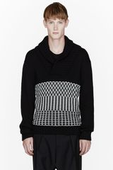 Public School Black Knit Patterned Oversize Sweater - Lyst