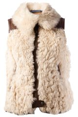 Ralph Lauren Blue Label Shearling Gilet - Lyst