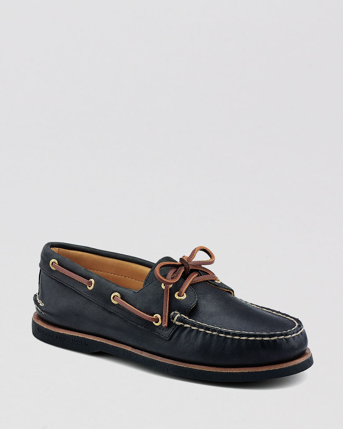 sperry top sider boat shoes gold a o 2 eye lace up in