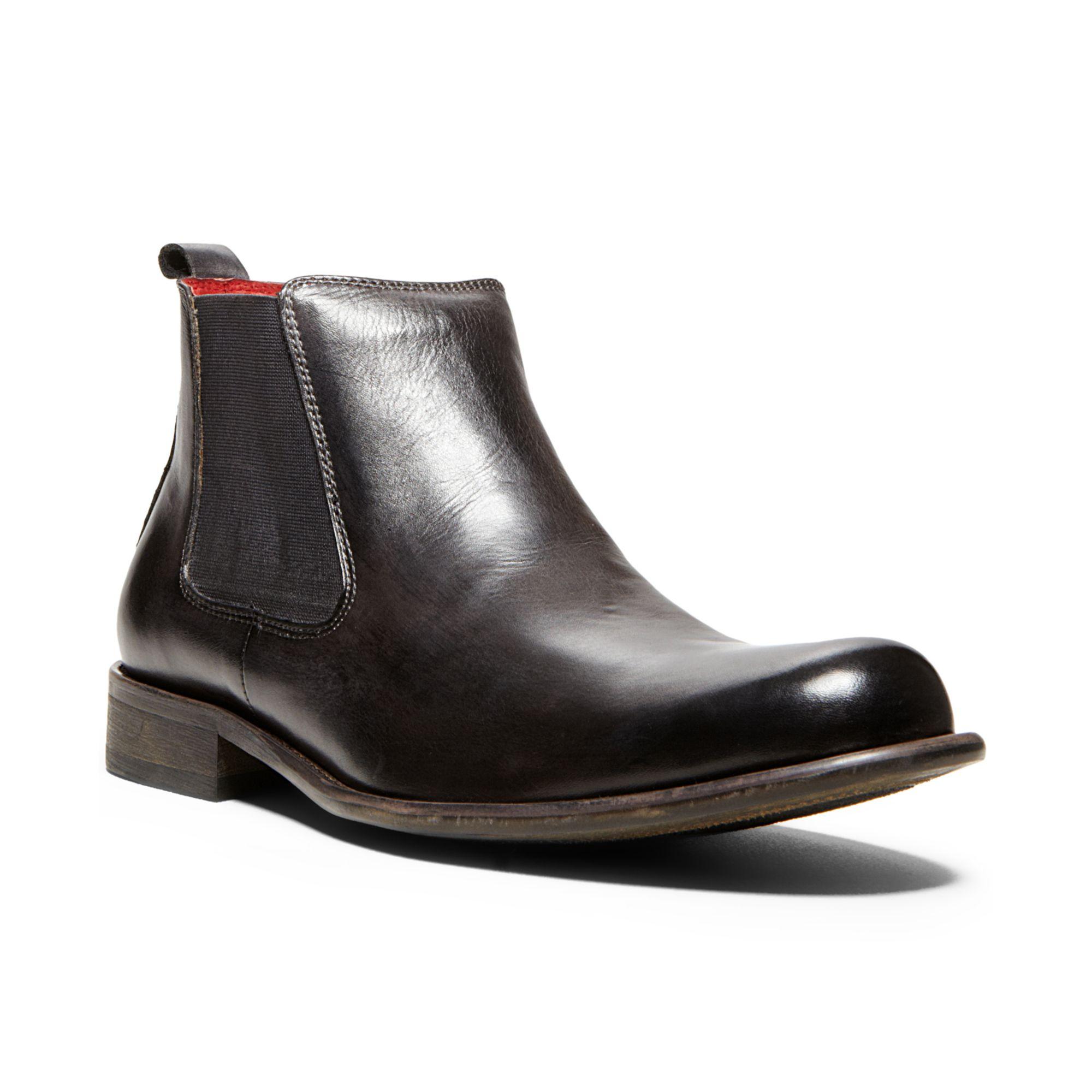 steve madden bedfordd boots in black for men grey lyst. Black Bedroom Furniture Sets. Home Design Ideas
