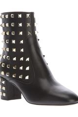 Valentino Studded Ankle Boot - Lyst