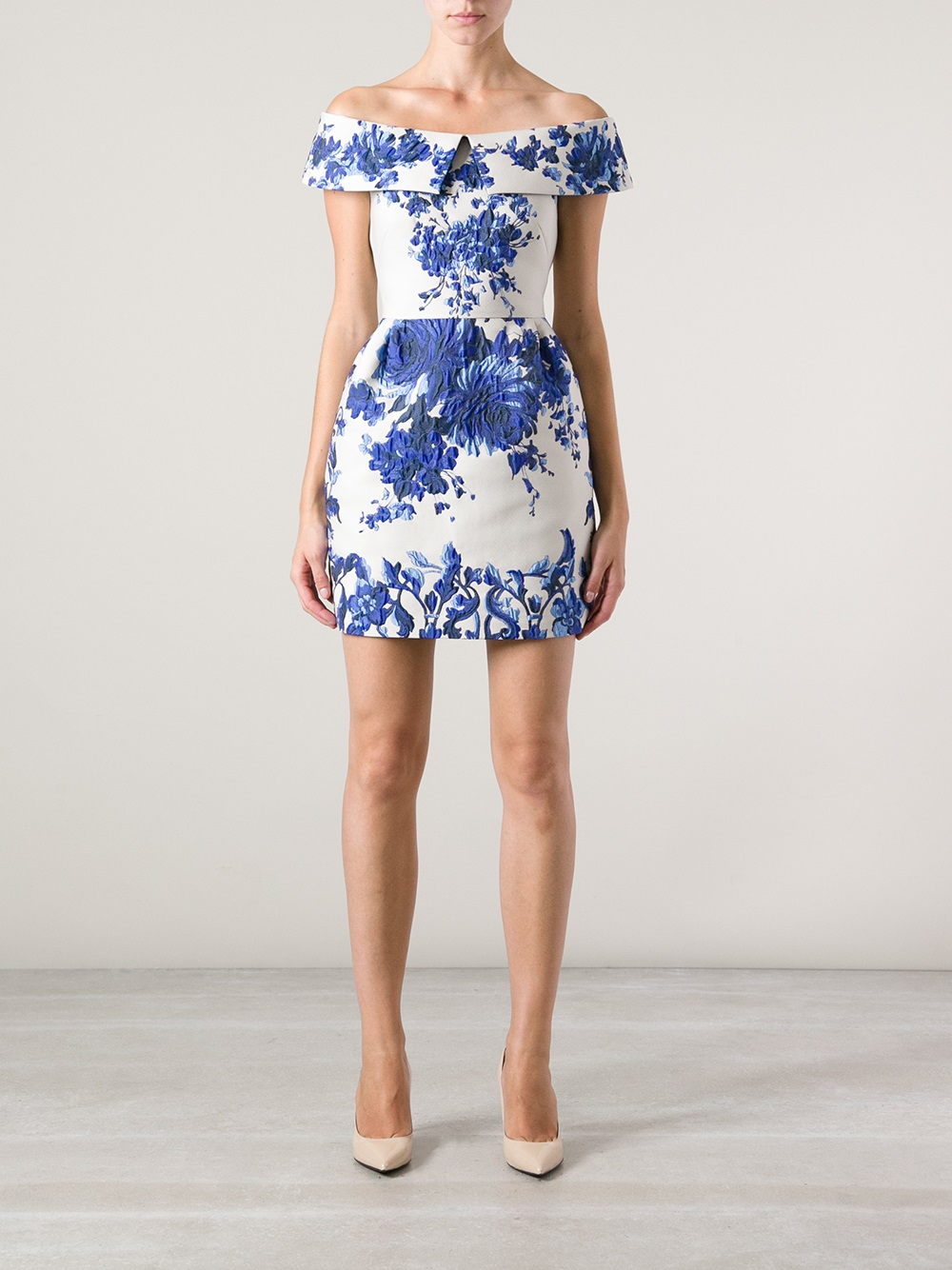 Lyst Valentino Intricate Cocktail Dress In Blue