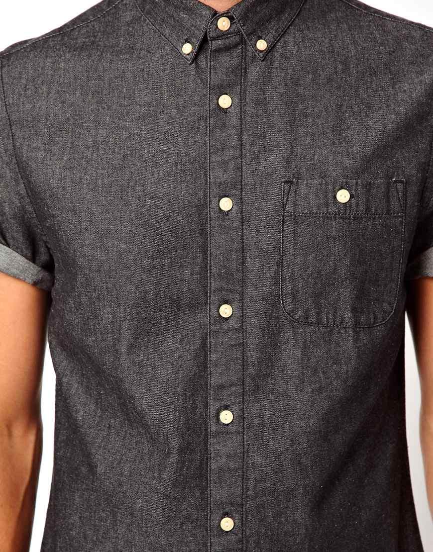 34bdb31a0a9 Short Sleeve Dark Denim Shirt - BCD Tofu House