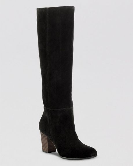 cole haan boots cassidy in black black suede lyst