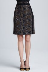 Diane Von Furstenberg Marta Pythonprint Pencil Skirt - Lyst