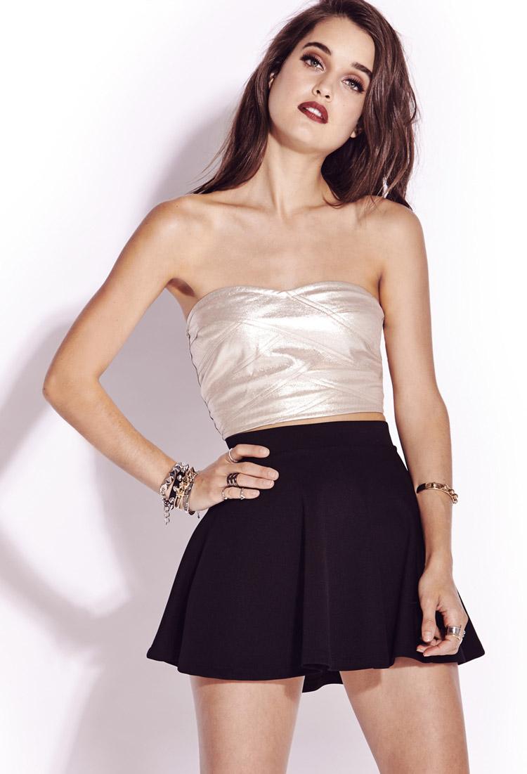 Forever 21 Glamour Girl Tube Top in Metallic | Lyst