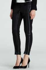 Helmut Lang Wetlook Stovepipe Pants - Lyst