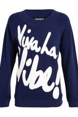 House Of Holland Viva La Vibe Cotton Sweatshirt - Lyst