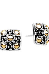 John Hardy Jaisalmer Square Stud Earrings - Lyst