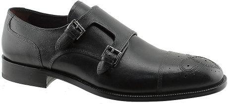 Johnston & Murphy Carlock Double Monk Strap Loafers in Black for Men