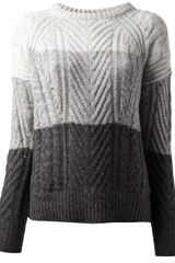 Marc By Marc Jacobs Striped Knitted Sweater - Lyst