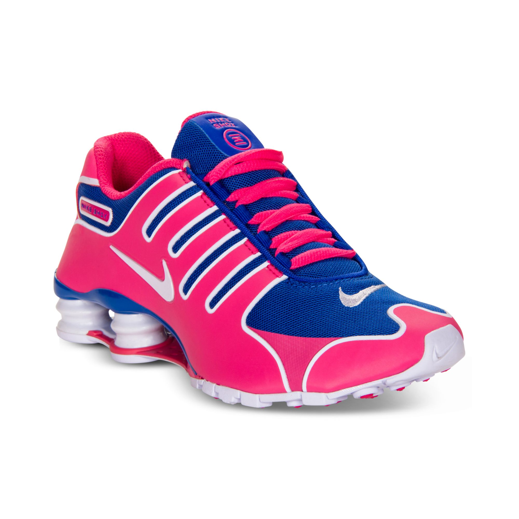 buy online 3d464 af4f0 top quality nike shox current laufschuhe mädchen grundschule grau rosa groß  4c8df 34447  reduced lyst nike shox nz ns running sneakers in pink 9ab22  3006e