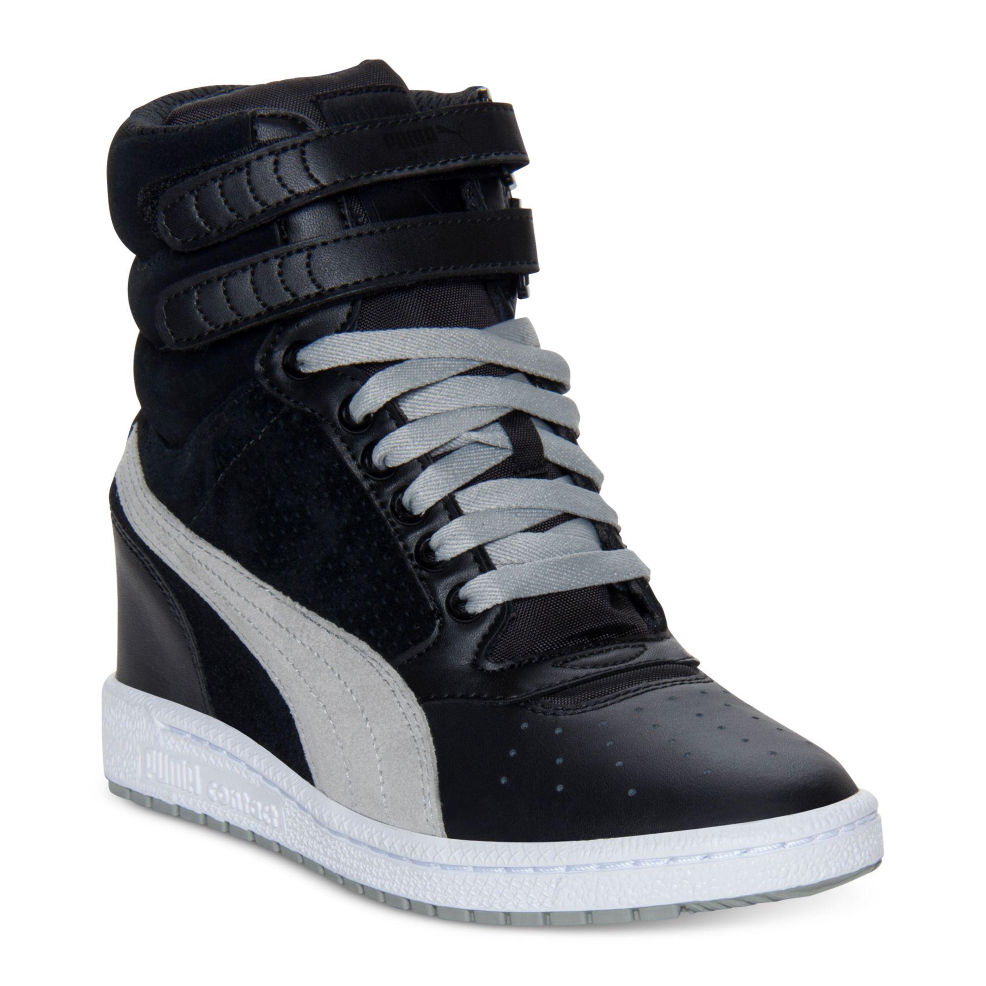 83d638c6b2f Lyst - PUMA Sky Wedge Casual Sneakers in Black