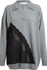 Stella McCartney Oversized Wool and Lace Tunic - Lyst