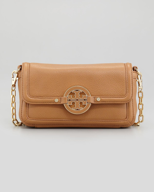 d292aea666a Tory Burch Amanda Chain Strap Mini Crossbody Bag Royal Tan in Brown ...