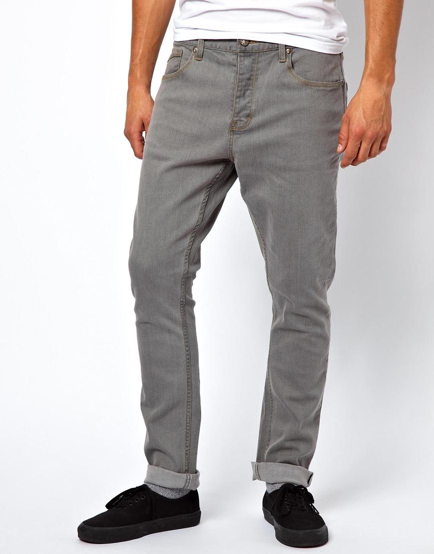 asos altamont jeans imperial slim tapered fit granite wash in gray for men lyst. Black Bedroom Furniture Sets. Home Design Ideas