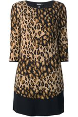 DKNY Leopard Print Dress - Lyst