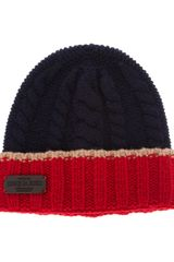DSquared2 Cable Knit Beanie - Lyst