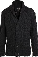 Edun Cable Knit Wool Oversized Cardigan - Lyst