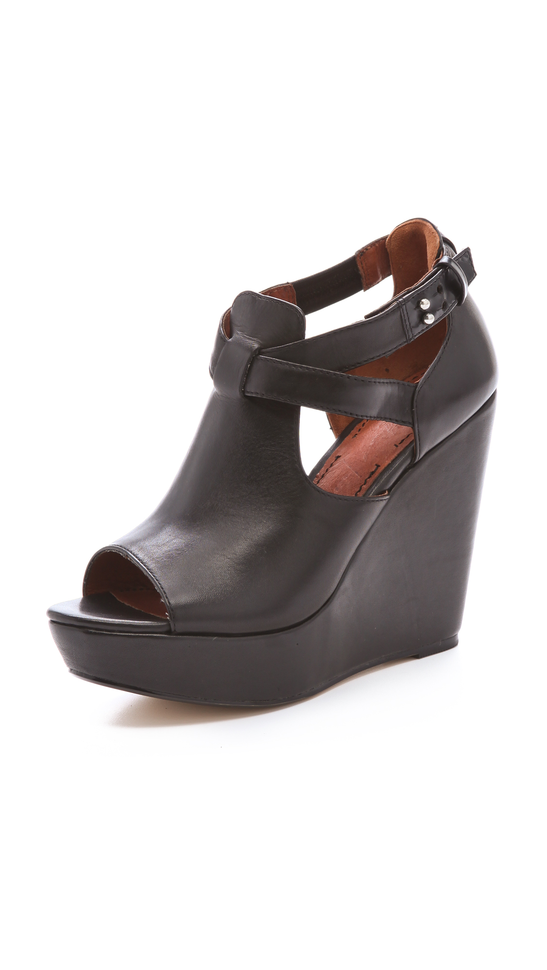 Lyst Elizabeth And James Harly Wedge Sandals In Black