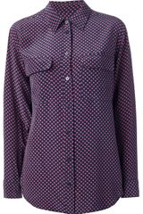 Equipment Polka Dot Silk Shirt - Lyst