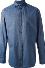 Etro Denim Shirt - Lyst