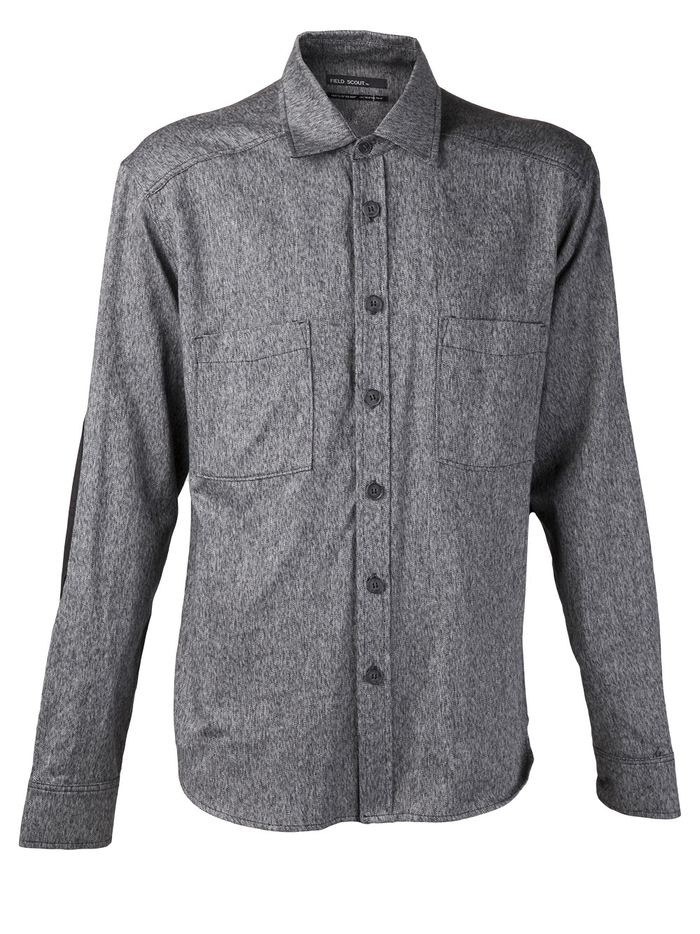 Field scout utility button down shirt in gray for men for Mens grey button down dress shirt