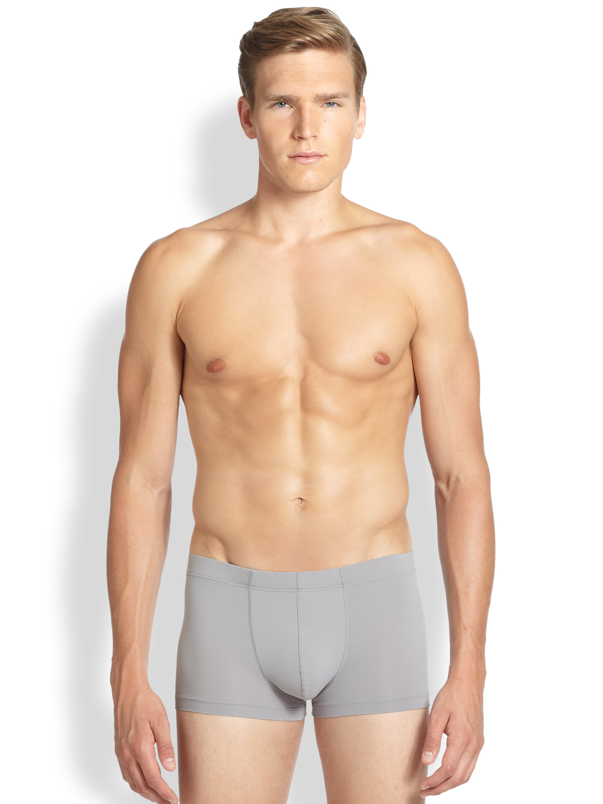 Lyst - Hanro Micro Touch Boxer Briefs in Gray for Men
