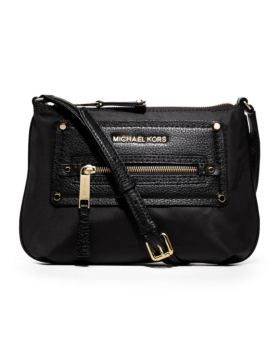 f695c35f9a2b Michael Michael Kors Gilmore Nylon Leather Crossbody Bag in Black