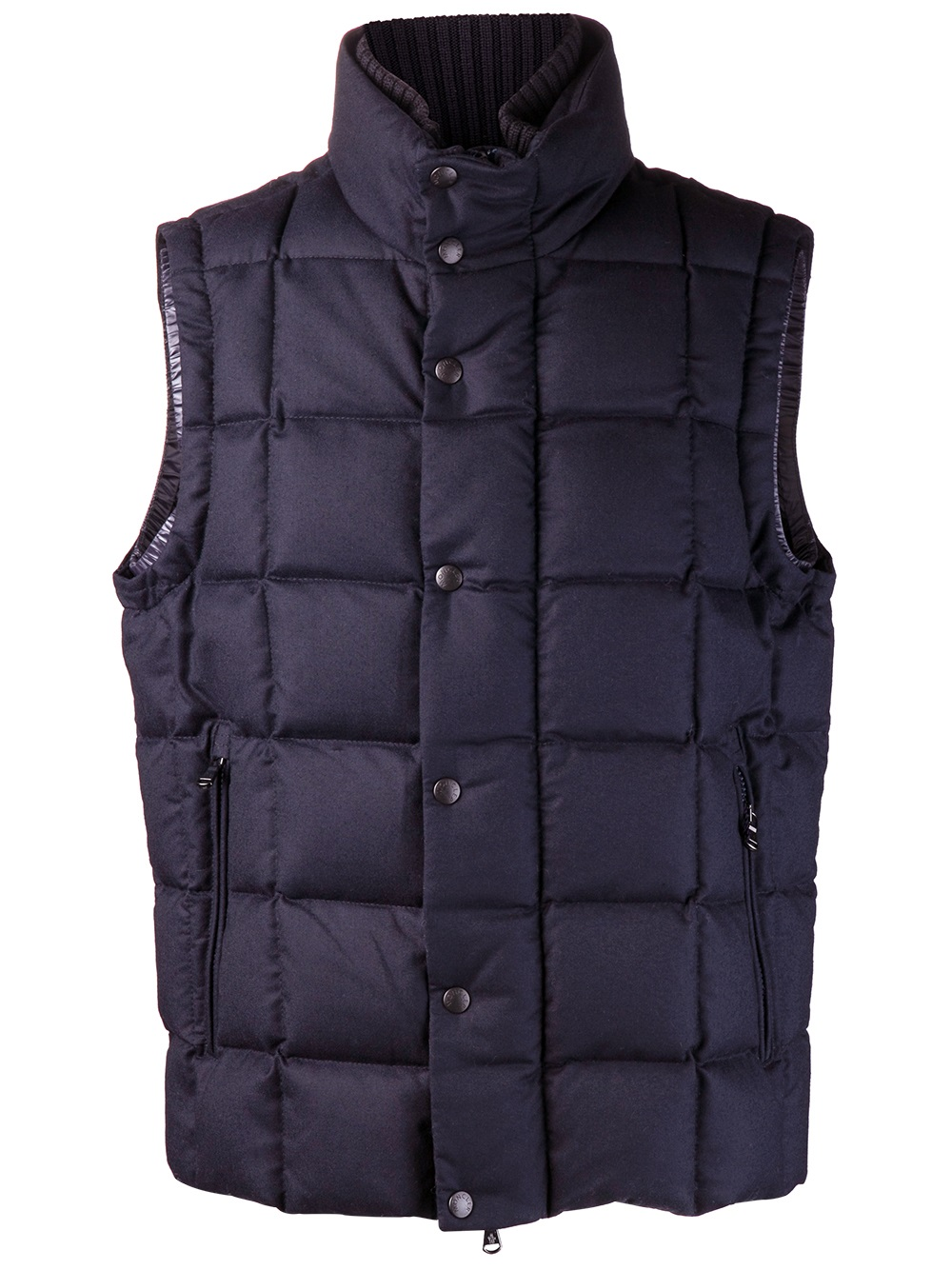 Moncler Tenay Quilted Vest In Blue For Men Lyst