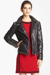 Moschino Cheap & Chic Moto Puffer Jacket - Lyst