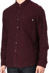 Obey Speckled Flannel Shirt - Lyst