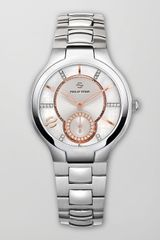 Philip Stein Small Round Diamond Watch Head Stainlessrose - Lyst