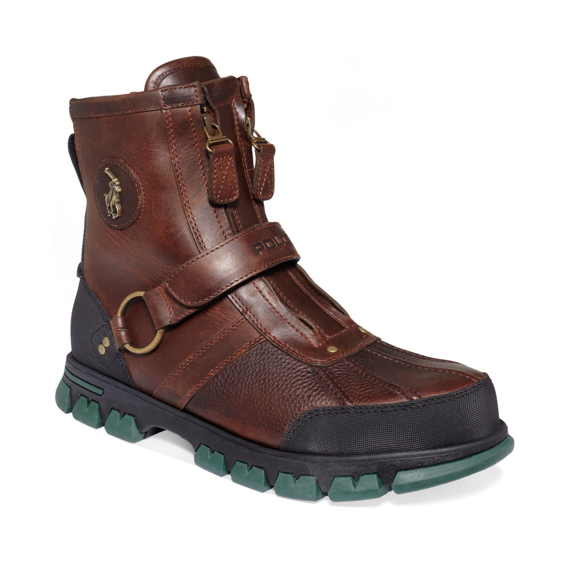 ralph lauren conquest iii highc boots in brown for men. Black Bedroom Furniture Sets. Home Design Ideas