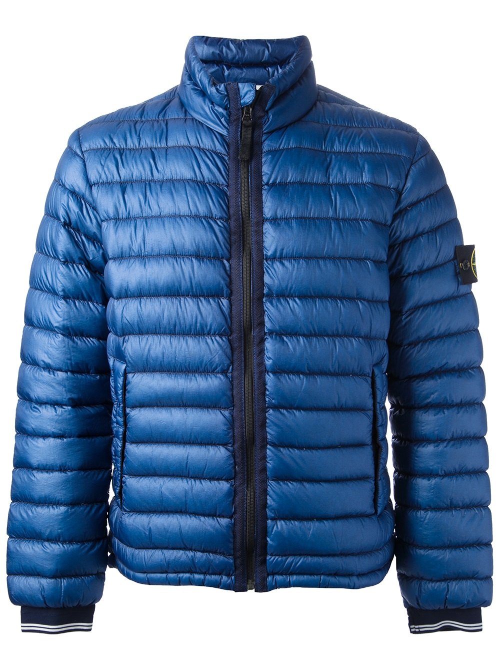Lyst Stone Island Padded Coat In Blue For Men