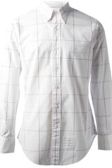 Thom Browne Window Pane Check Shirt - Lyst