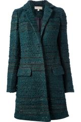 Tory Burch Tweed Coat - Lyst