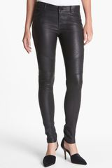 Vince Leather Moto Pants - Lyst