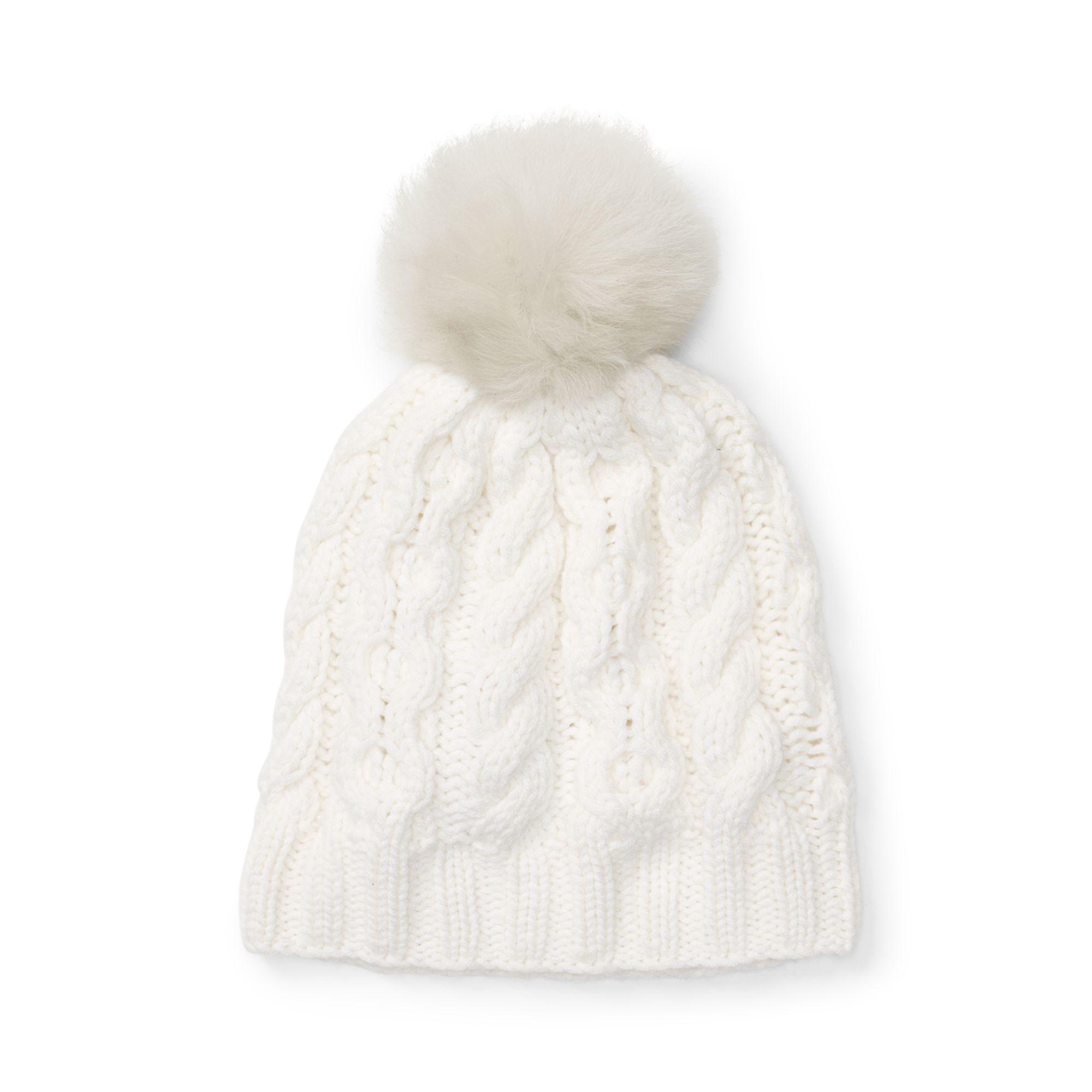 1092eb873493f Lyst - Club Monaco Cm28 Mpatmos Cable Knit Hat in White