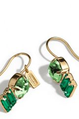 Coach Double Drop Stone Earrings - Lyst