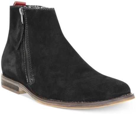 Guess Mens Shoes Hanley Zip Boots in Black for Men