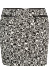 Karl Lagerfeld Sabine Leather trimmed Tweed Mini Skirt - Lyst