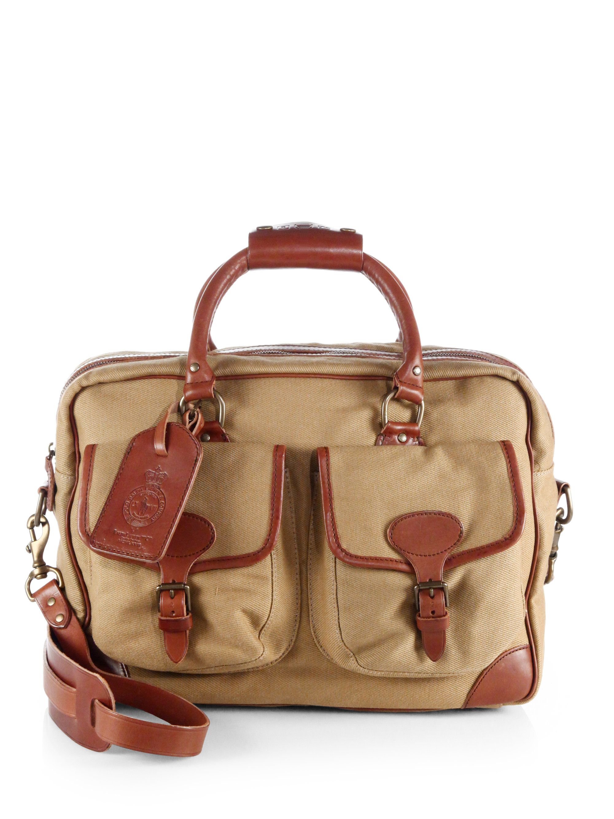 Lyst - Polo Ralph Lauren Twill Commuter Messenger Bag in Brown for Men 0e2a5cee9f