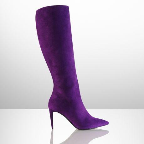 ralph collection artilah suede high heel boot in