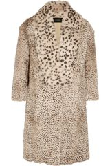 Thakoon Animal-print Goat Hair and Rabbit Coat - Lyst