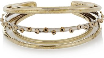 Anndra Neen Barnacle Sunset Silver and Goldtone Cuff - Lyst