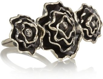 Anndra Neen Burnished Silver Tone Rose Ring - Lyst