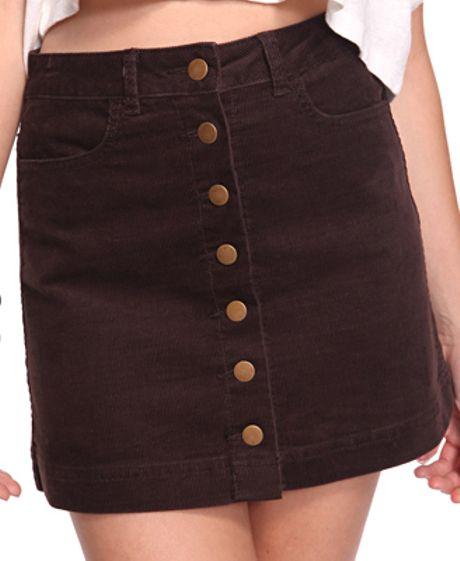 forever 21 aline corduroy skirt in brown